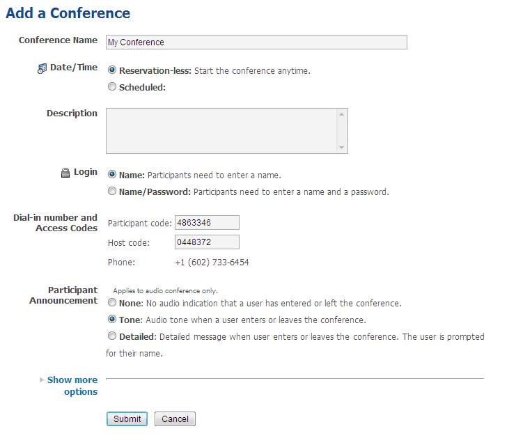 Record A Conference